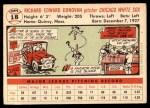 1956 Topps #18  Dick Donovan  Back Thumbnail