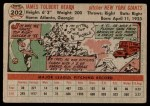 1956 Topps #202  Jim Hearn  Back Thumbnail
