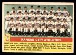 1956 Topps #236   Athletics Team Front Thumbnail
