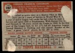 1952 Topps #237  Jerry Coleman  Back Thumbnail