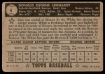1952 Topps REPRINT #4  Don Lenhardt  Back Thumbnail