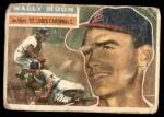 1956 Topps #55  Wally Moon  Front Thumbnail