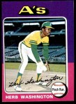1975 Topps Mini #407  Herb Washington  Front Thumbnail