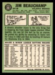 1967 Topps #307  Jim Beauchamp  Back Thumbnail