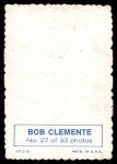 1969 Topps Deckle Edge #27  Roberto Clemente  Back Thumbnail