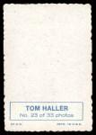 1969 Topps Deckle Edge #23  Tom Haller    Back Thumbnail