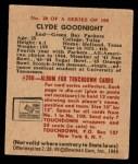 1948 Bowman #20  Clyde Goodnight  Back Thumbnail