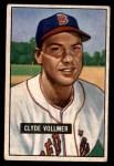 1951 Bowman #91  Clyde Vollmer  Front Thumbnail