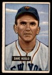 1951 Bowman #90  Dave Koslo  Front Thumbnail