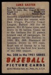 1951 Bowman #258  Luke Easter  Back Thumbnail