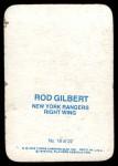 1976 Topps Glossy #18  Rod Gilbert  Back Thumbnail