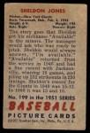 1951 Bowman #199  Sheldon Jones  Back Thumbnail