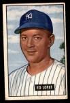 1951 Bowman #218  Eddie Lopat  Front Thumbnail