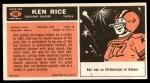 1965 Topps #148  Ken Rice  Back Thumbnail