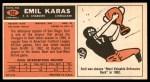 1965 Topps #162  Emil Karras  Back Thumbnail