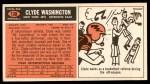 1965 Topps #130  Clyde Washington  Back Thumbnail