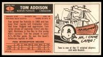 1965 Topps #1   Tommy Addison  Back Thumbnail