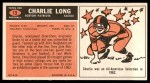 1965 Topps #13  Charlie Long  Back Thumbnail
