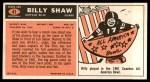 1965 Topps #41  Billy Shaw  Back Thumbnail