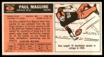 1965 Topps #37  Paul Maguire  Back Thumbnail