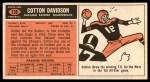 1965 Topps #138  Cotton Davidson  Back Thumbnail