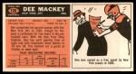 1965 Topps #120  Dee Mackey  Back Thumbnail