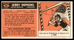 1965 Topps #54  Jerry Hopkins  Back Thumbnail