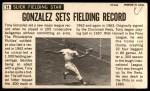 1964 Topps Giants #14  Tony Gonzalez   Back Thumbnail