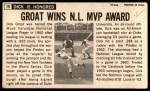 1964 Topps Giants #19  Dick Groat   Back Thumbnail
