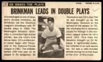 1964 Topps Giants #27  Eddie Brinkman   Back Thumbnail