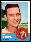 1963 Topps #568  Bob Sadowski  Front Thumbnail