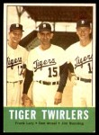 1963 Topps #218   -  Jim Bunning / Frank Lary / Don Mossi Tiger Twirlers Front Thumbnail