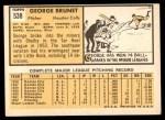 1963 Topps #538  George Brunet  Back Thumbnail