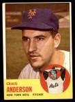 1963 Topps #59  Craig Anderson  Front Thumbnail