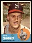 1963 Topps #367  Tony Cloninger  Front Thumbnail
