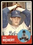 1963 Topps #383  Pete Richert  Front Thumbnail