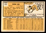 1963 Topps #372 FUL Don Lee  Back Thumbnail