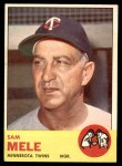 1963 Topps #531  Sam Mele  Front Thumbnail