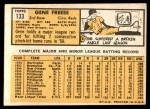 1963 Topps #133  Gene Freese  Back Thumbnail