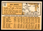 1963 Topps #290  Bill White  Back Thumbnail