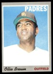 1970 Topps #130  Ollie Brown  Front Thumbnail