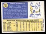 1970 Topps #101  Bobby Floyd  Back Thumbnail