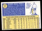 1970 Topps #91  Rich Morales  Back Thumbnail