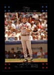 2007 Topps #90  Chipper Jones  Front Thumbnail