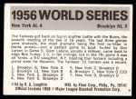 1971 Fleer World Series #54   1956 Yankees / Dodgers -   Back Thumbnail