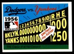 1971 Fleer World Series #54   1956 Yankees / Dodgers -   Front Thumbnail