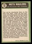 1967 Topps #186   -  Ed Kranepool / Ron Swoboda Mets Maulers Back Thumbnail