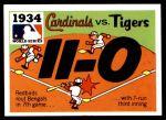 1971 Fleer World Series #32   1934 Cardinals / Tigers -   Front Thumbnail