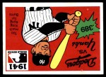 1971 Fleer World Series #39   1941 Yankees / Dodgers -   Front Thumbnail