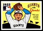 1971 Fleer World Series #20   1922 Giants / Yankees -   Front Thumbnail